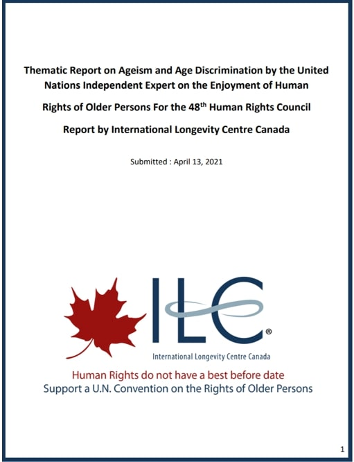 Thematic Report on Ageism – United Nations Independent Expert on the Enjoyment of Human Rights by Older Persons
